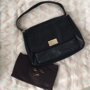 KATE SPADE • Black Leather Irving Bag EUC